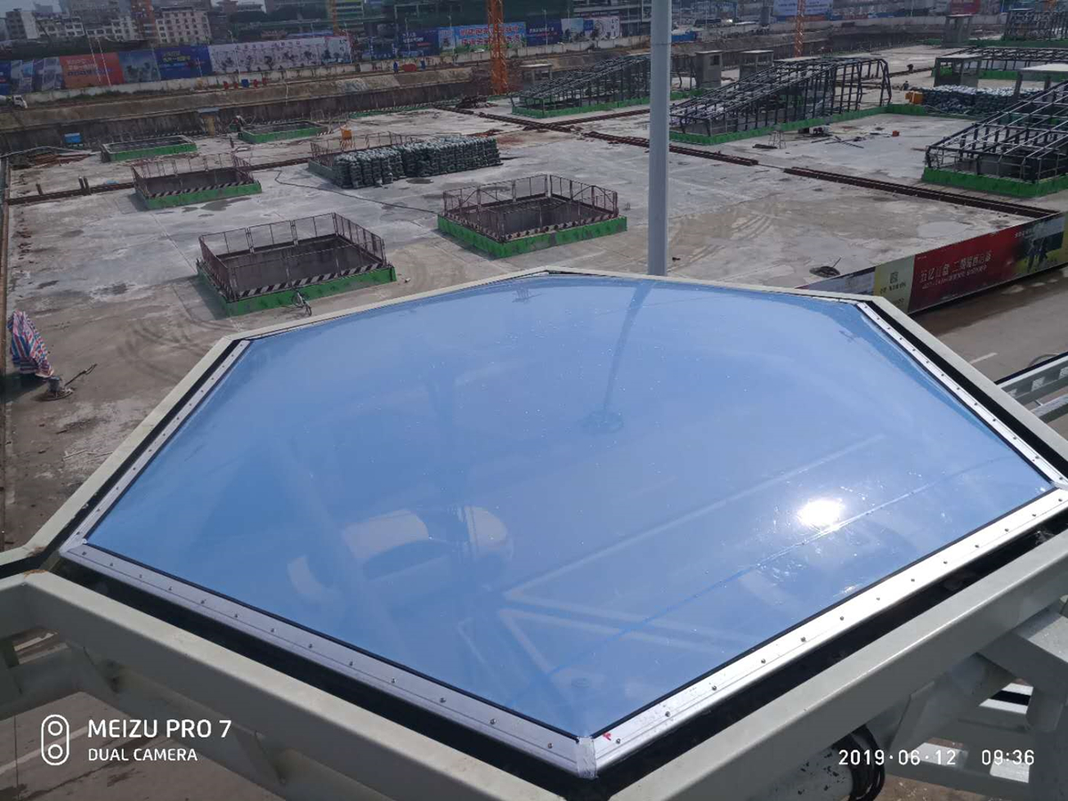 Blue ETFE Fluoropolymer Films Membrane Cushion for Commercial & Stadium Roof
