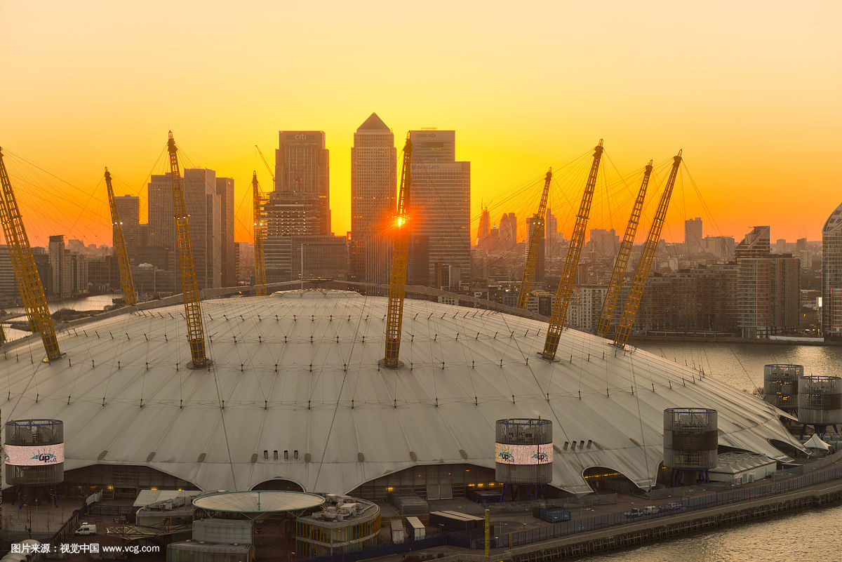 Millennium dome of Thames England