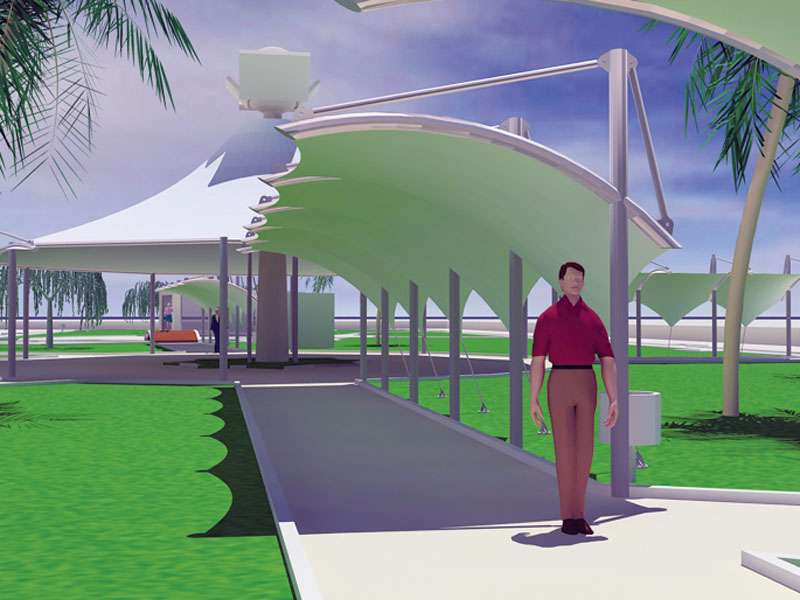 Tensile Structures for Commercial Street / Retail Park / Pedestrian Street