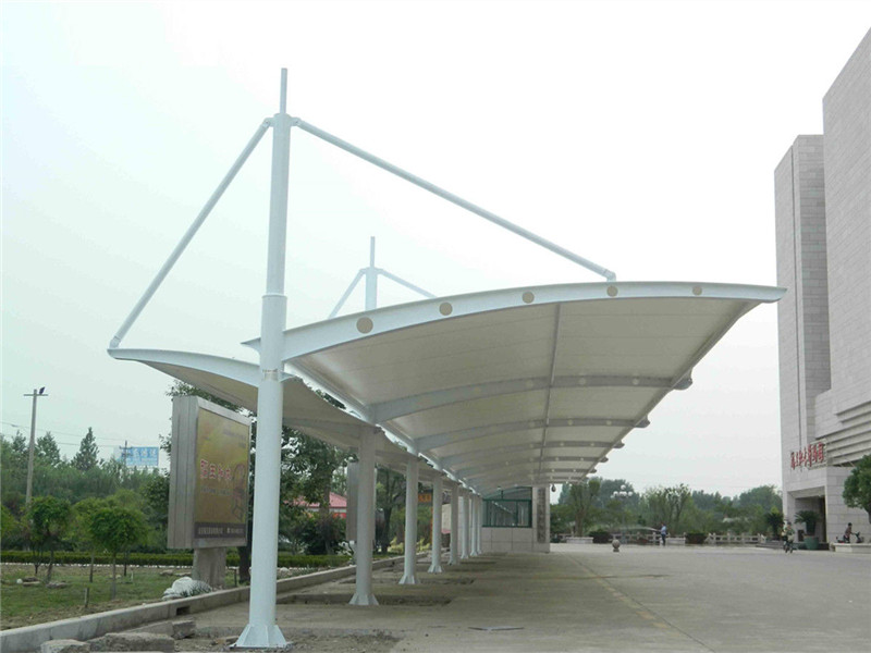 How to Stretch the Membrane Cloth of the Tensile Car Parking Shed ?