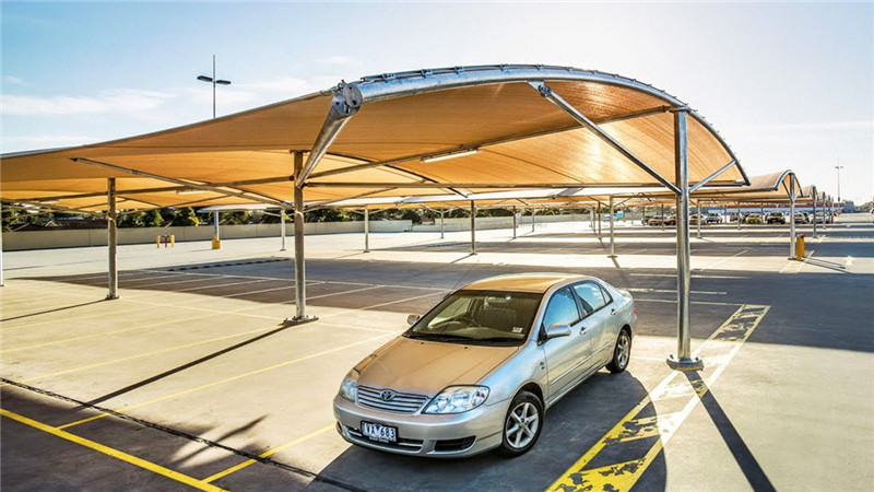 7-Shaped Tension Membrane Structure Carport-in Belarus