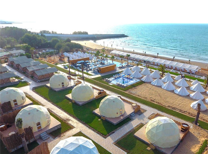 Geo-dome Cabins for Indonesia Seafront Camp