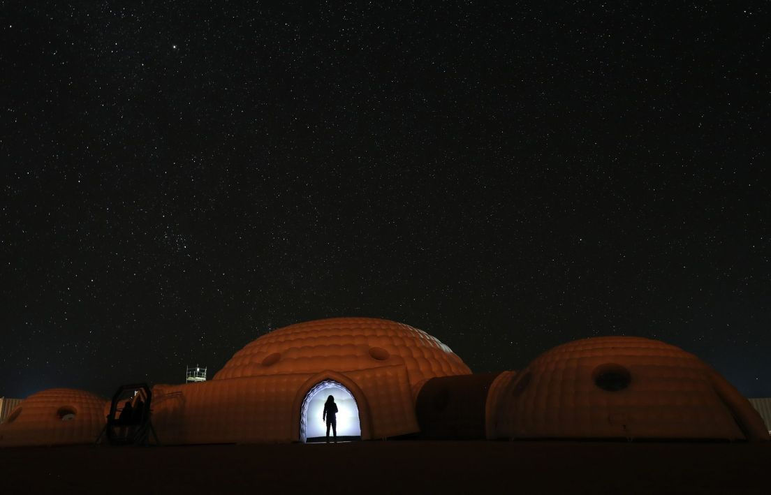 Geodesic Dome Tent combination makes the most Beautiful Desert Resort & Camp - Oman