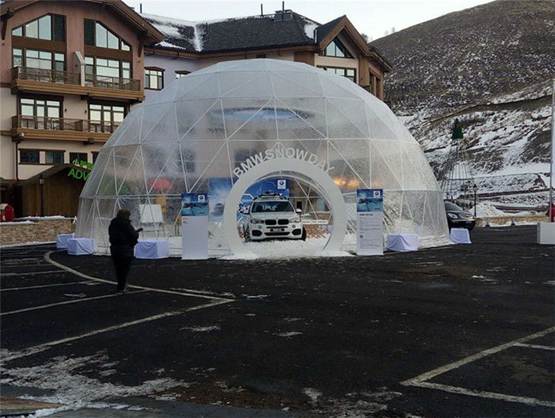 Large Transparent 10m Dome Tents for Commercial Activities
