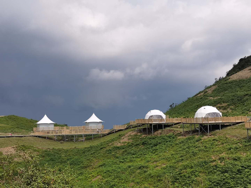 Nature Geodesic Dome Tent Accommodation Suit for Nature Resorts