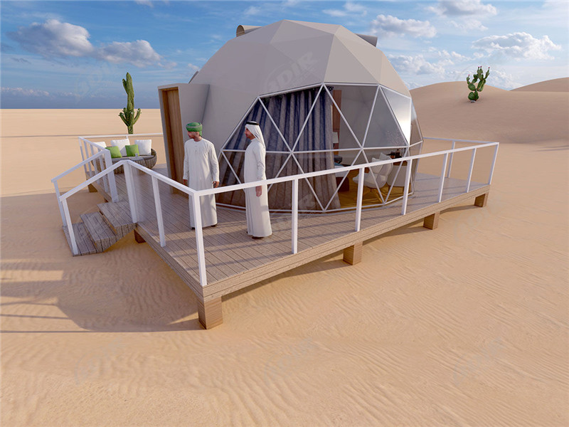 Prefab Desert Canvas Domes Shade Structures Tents Manufacturer form China