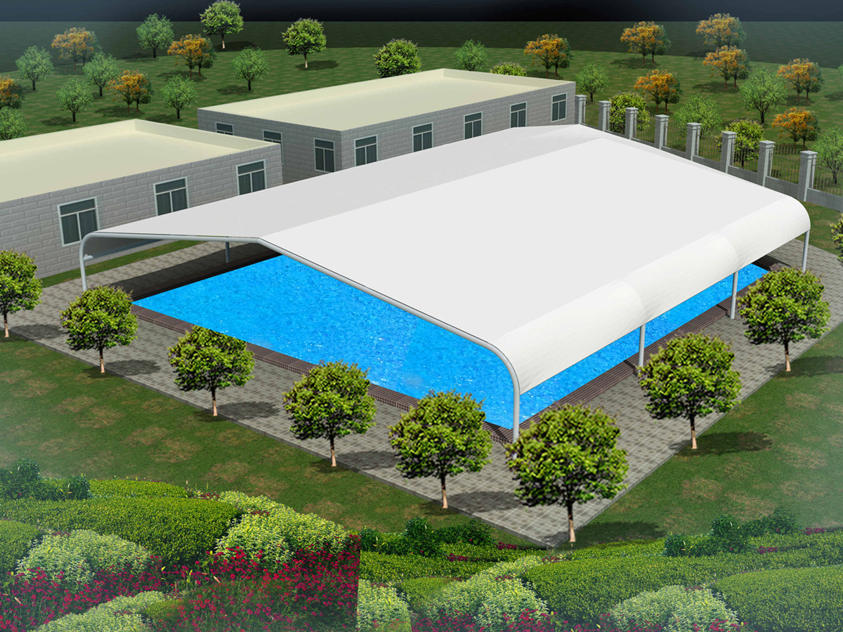 Tensile Fabric Structure for Swimming Pool in Malaysia