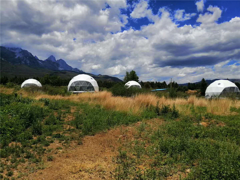 Why choose the PVC Geodesic Dome for Glamping Campsite?