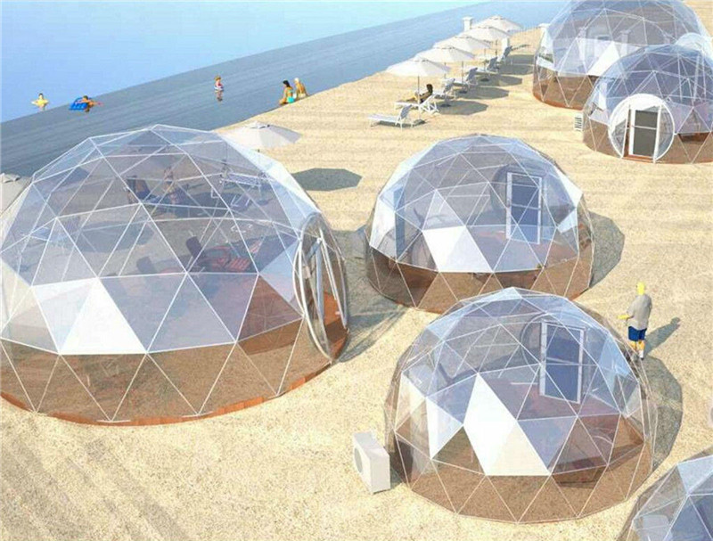 What is Glass Geodesic Dome Tent?