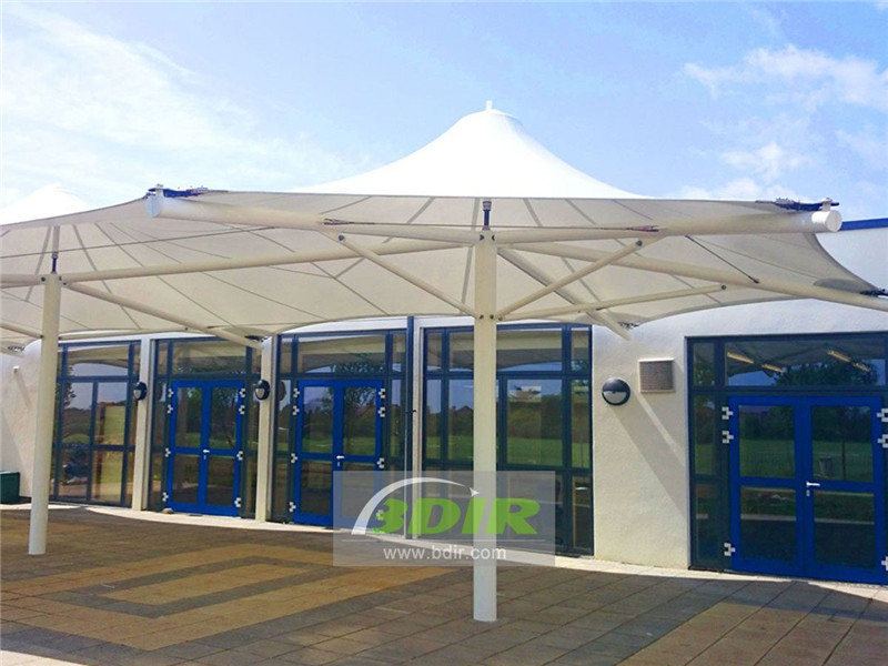 Tension Membrane Structure Awnings in Bahrain