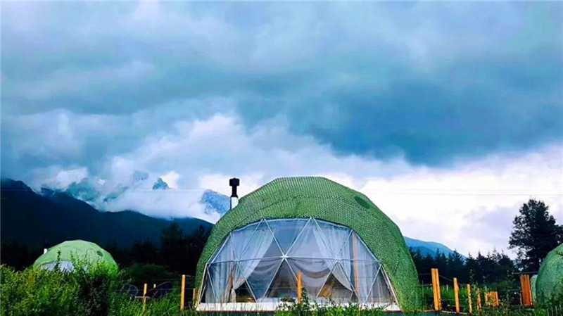 The Eco Dome Tent Blends in Harmoniously with the Landscape
