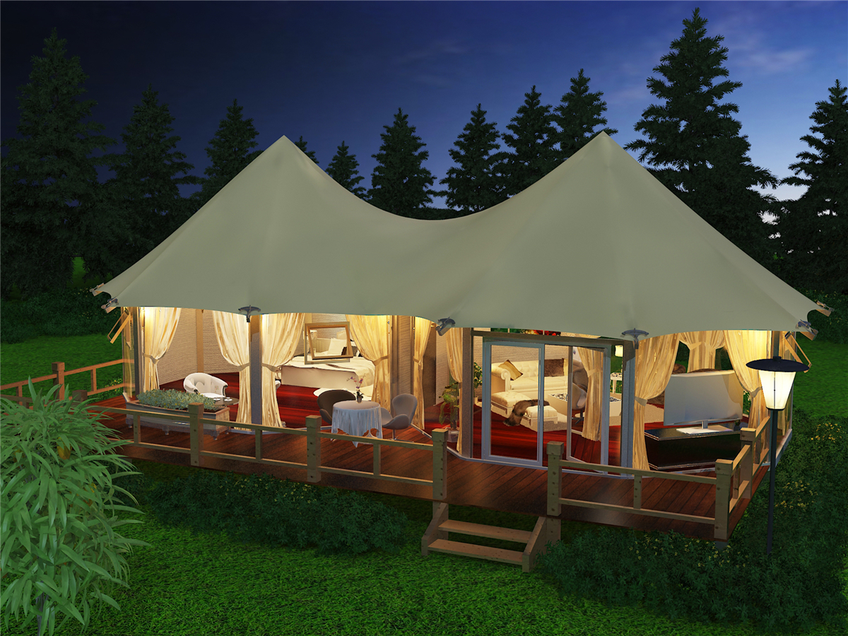 Luxury Riverside Glamping Tent Resort with Tented Lodge