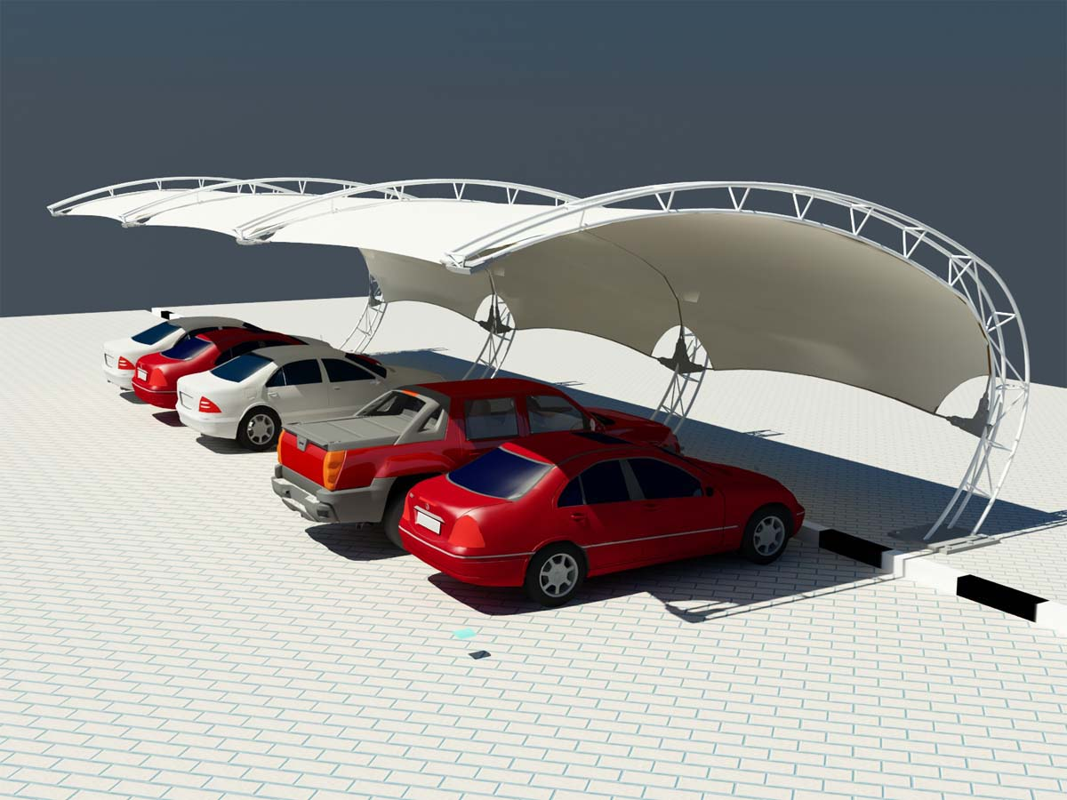 Arch Type Car Parking Shades - Arch Design Car Parking Prices