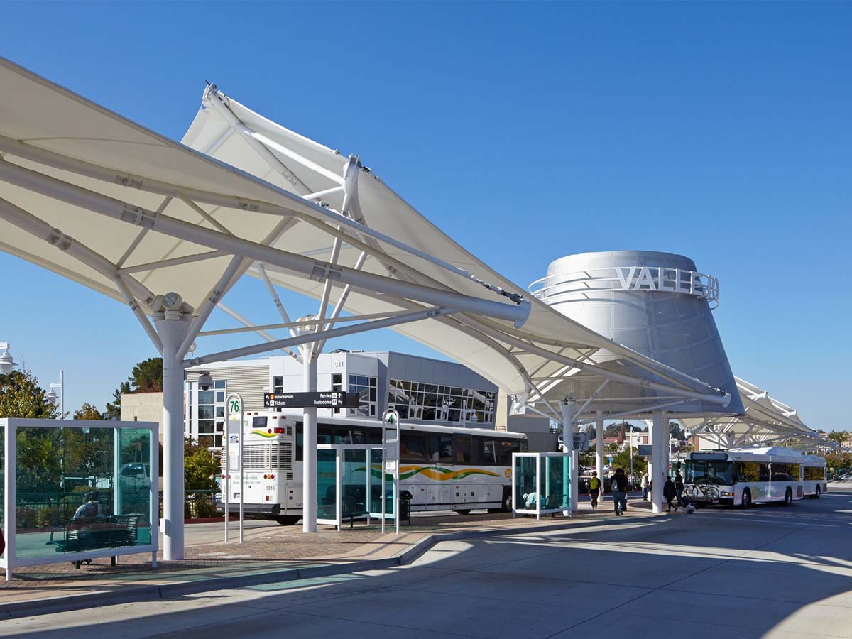 Bus Station Tensile Structures - Bus Stop Terminal Canopies, Shelters, Roofs