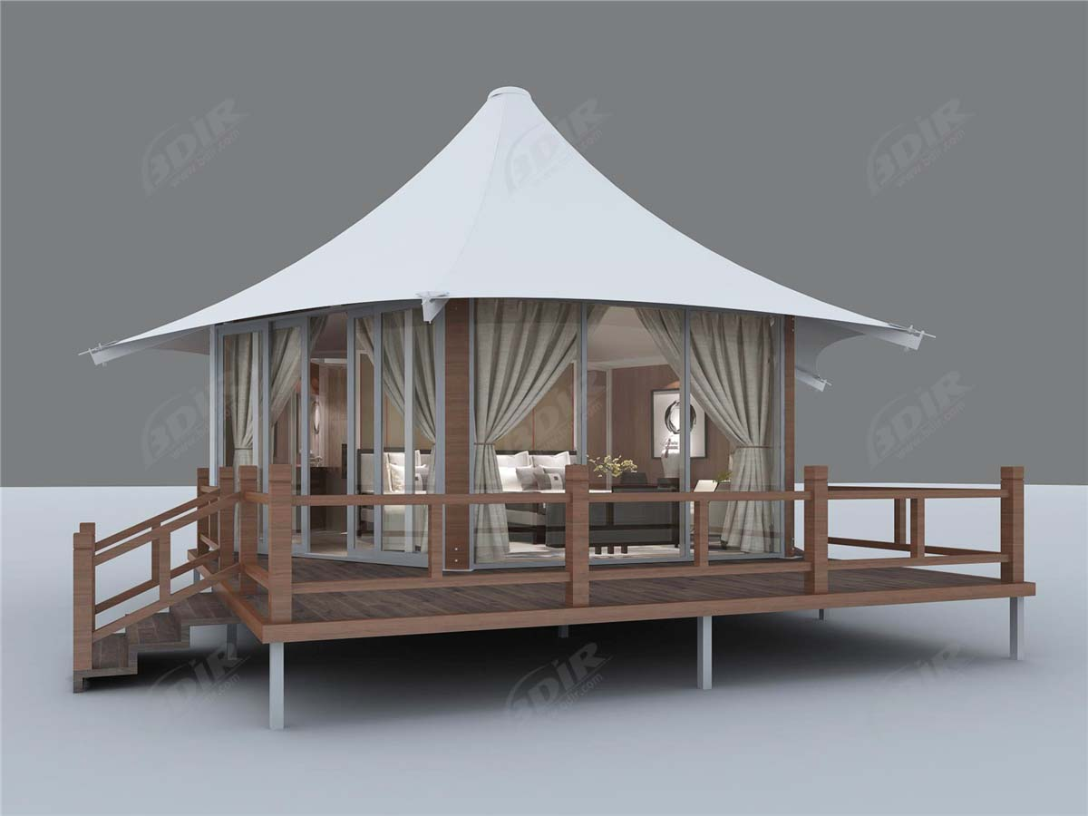 Camping Tents, Tent Lodges, Tented House - Capella Ubud, Bali, Indonesia