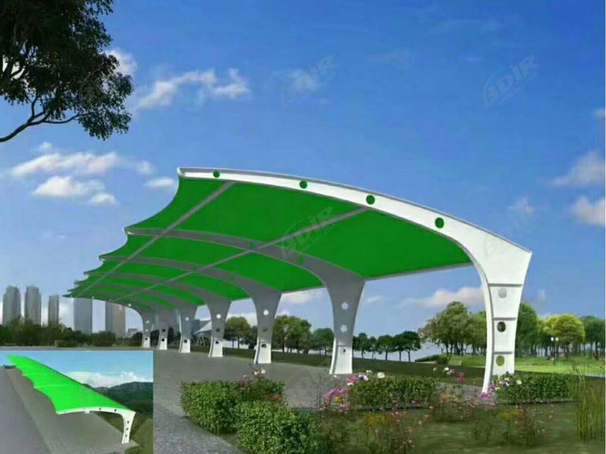 Cantilever Car Parking Shade Structures Suppliers - Single Bay Design
