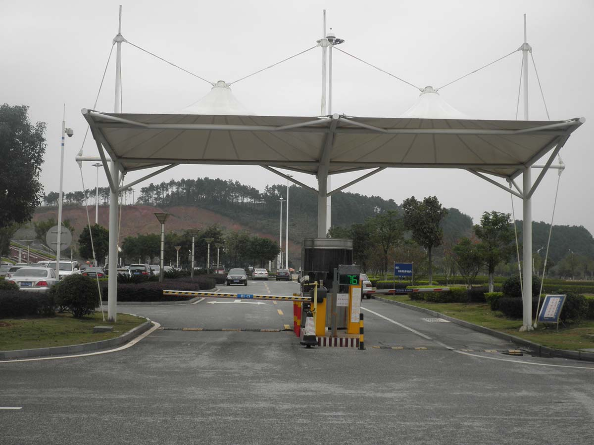 Car Park Gates Tensile Structures - Car Park Approach and Entrance Canopy Shade