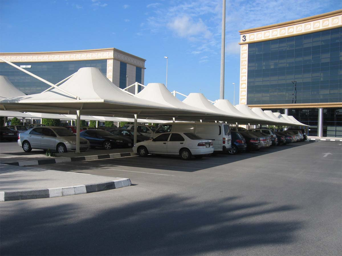 Cone Car Parking Sheds - Conical Car Parking Shades Structures Suppliers