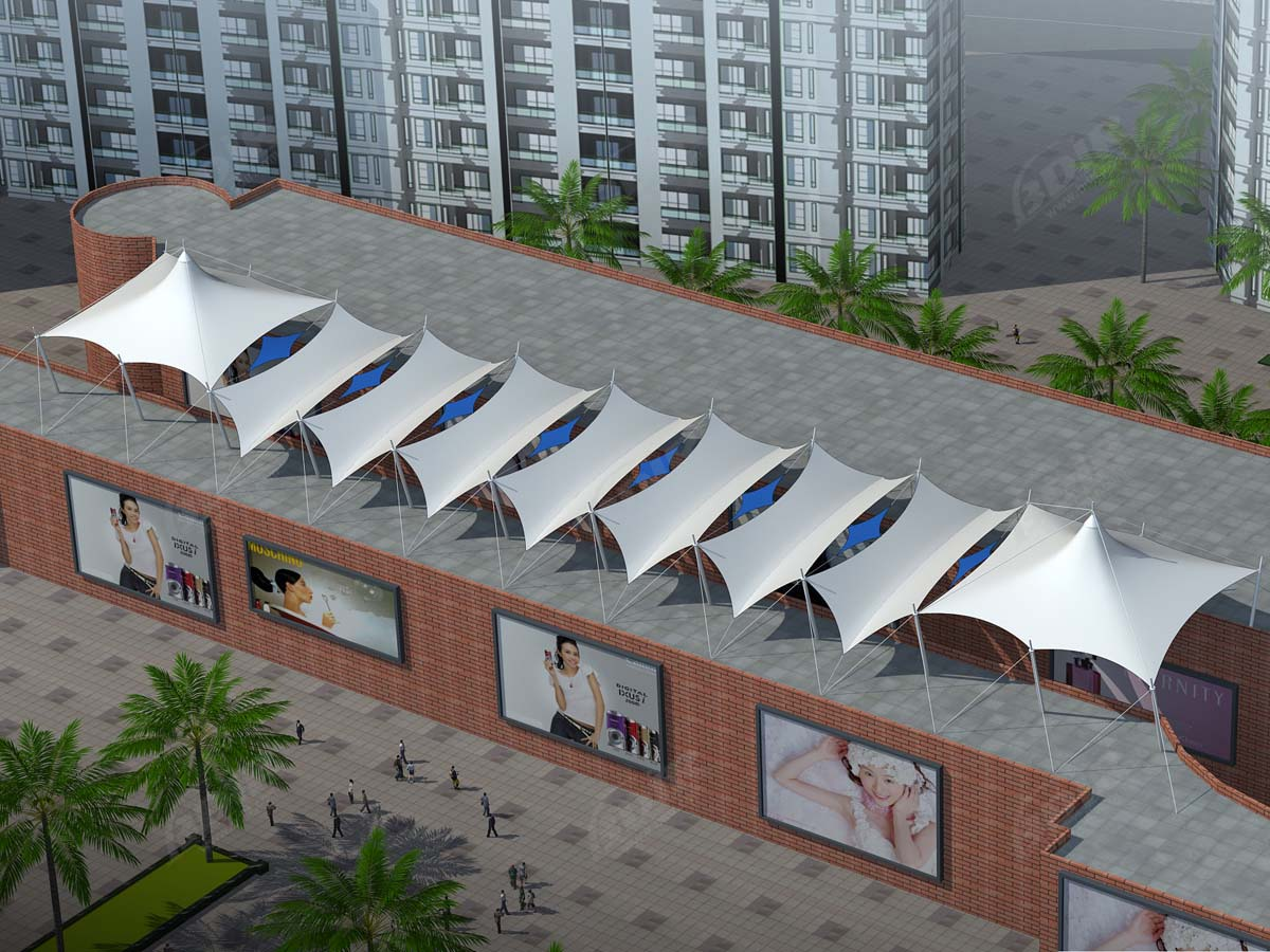 Custom Membrane Roofing Structures Pvc Ptfe Etfe