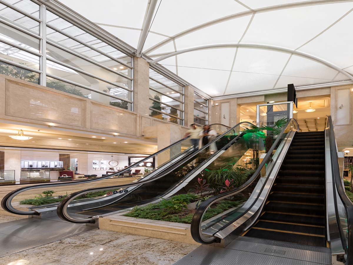 Custom Shade Structures for Elevators & Escalators - Atrium Roof / Canopy