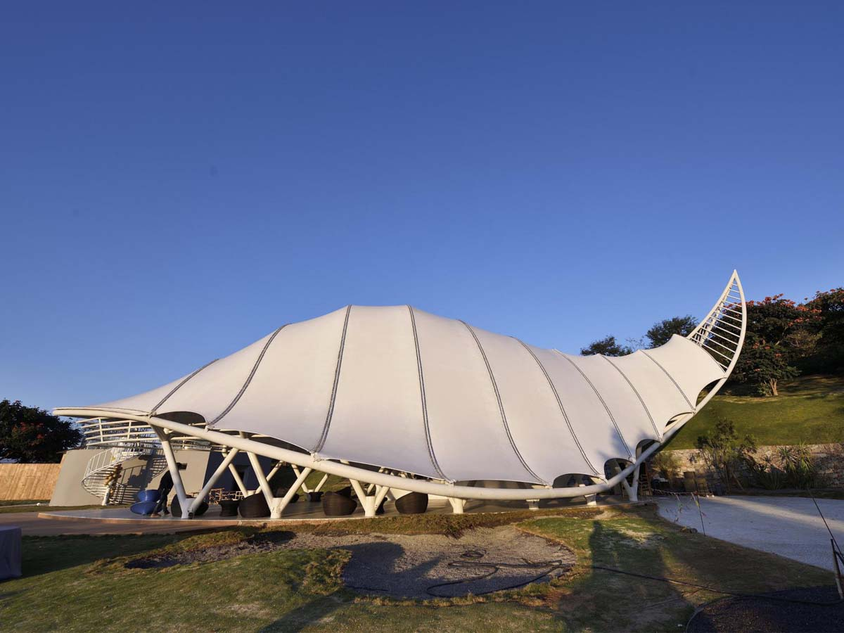 Customize Tensile Structure for Recreational Resorts, Tourism Industry