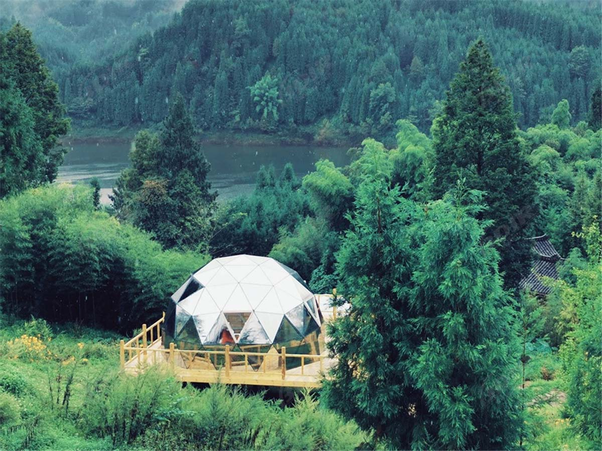 Customized Luxury Glass Geodesic Dome for Glamping & Camping