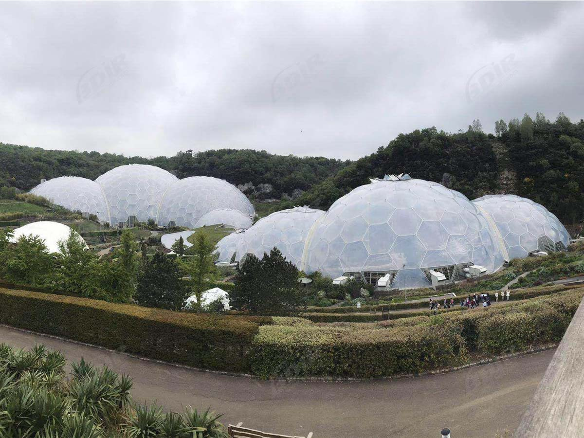 ETFE Dome Structure For Greenhouse, Rainforest Biome, Eden Project