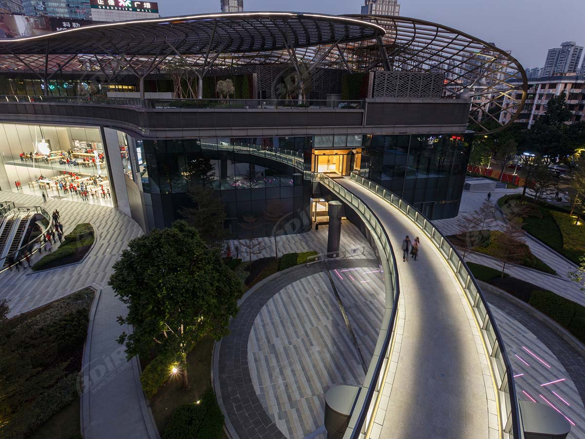 ETFE Roof Tensile Structures for Commercial Plaza, Shopping Center