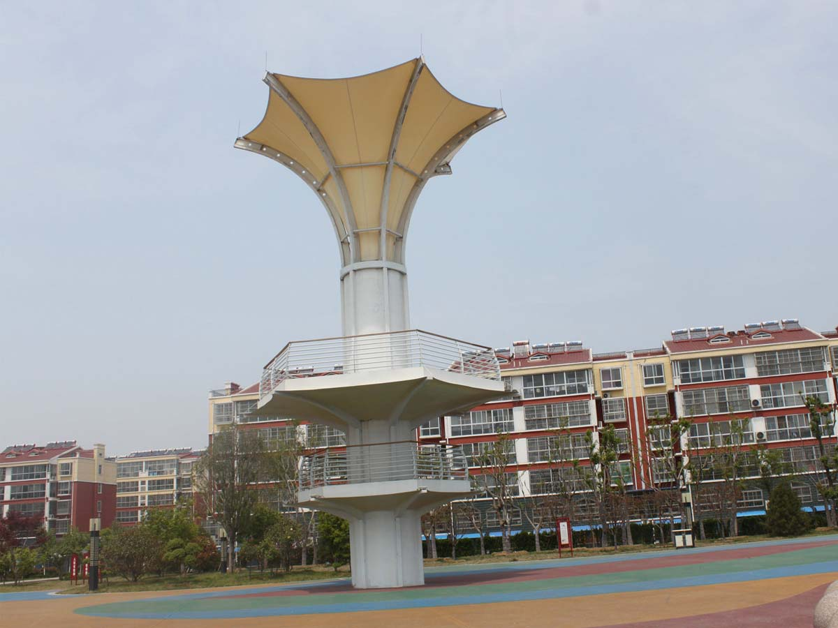 Gazebo Tension Cables Structures - Tensile Membrane Structures Tower