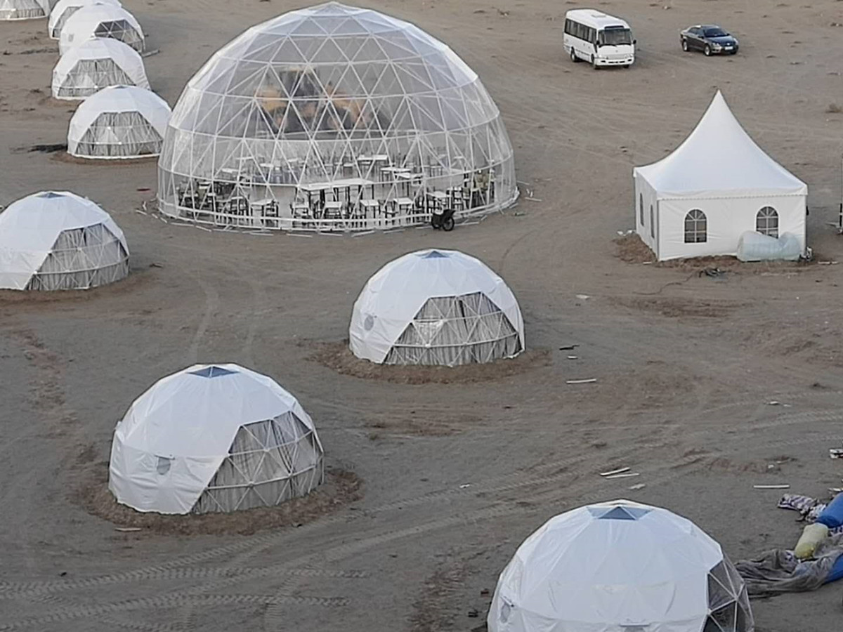 Geodesic Dome Hotel | Geodome Hotel | Hotel Eco Dome | Cupole del Sun City Camp