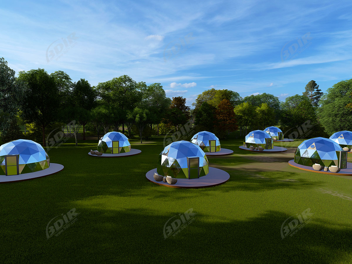 Glamping Glass Geodesic Dome House | Customized Garden Igloo Tents