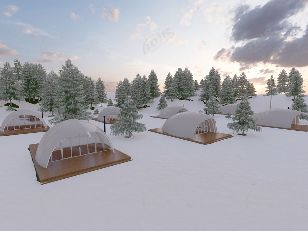Glamping Tent Pods & Eco Prefab Cabins for Ecotourism Holidays Campsites