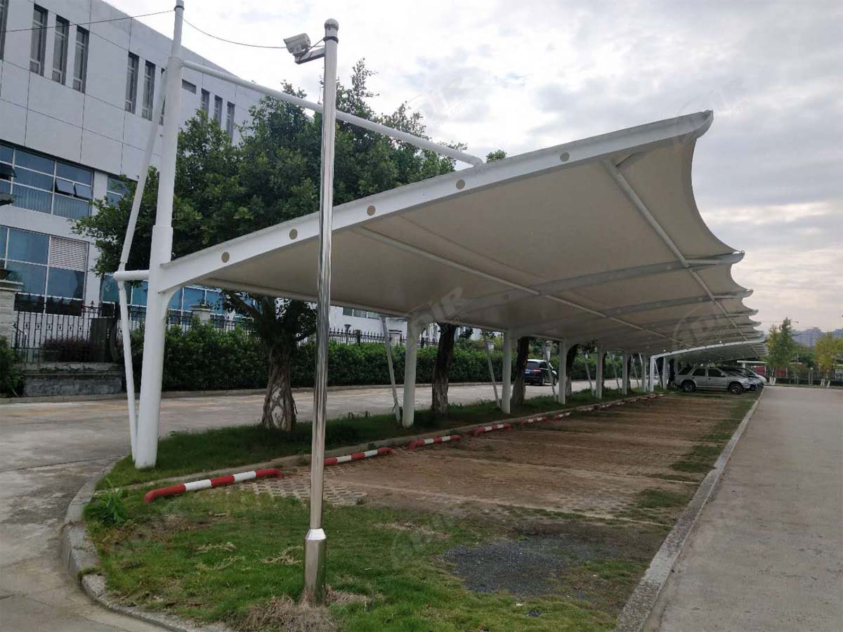 High Quality Tensile Membrane Structures for Car Shades - PVDF, PTFE