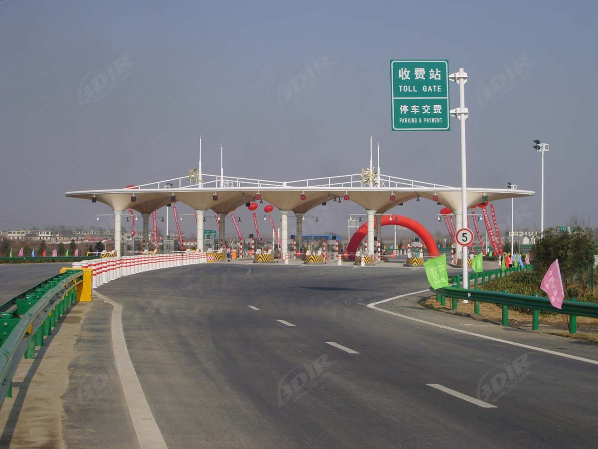 Highways Toll Plaza, Toll Booths, Toll Station Entrance Gate Tensile Structures