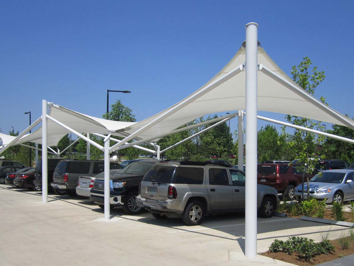 Hypar Type Car Parking Shades - Hypar Design Car Parking Shelter