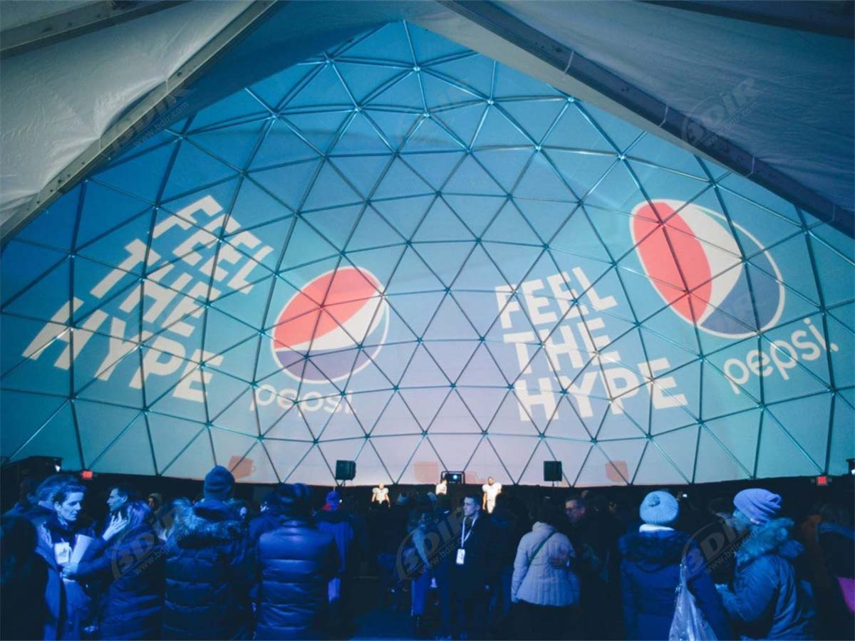 Immersive Dome, 360 Projection Dome, 3D Projection, Geodetische Koepeltent