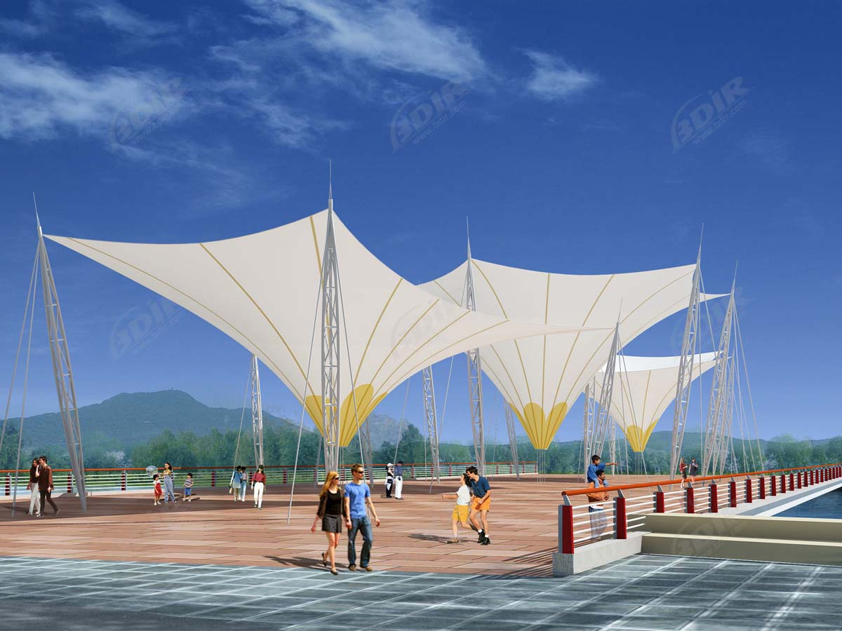Inverted Umbrella Tensile Structure - Shade, Sail, Canopy And Awning