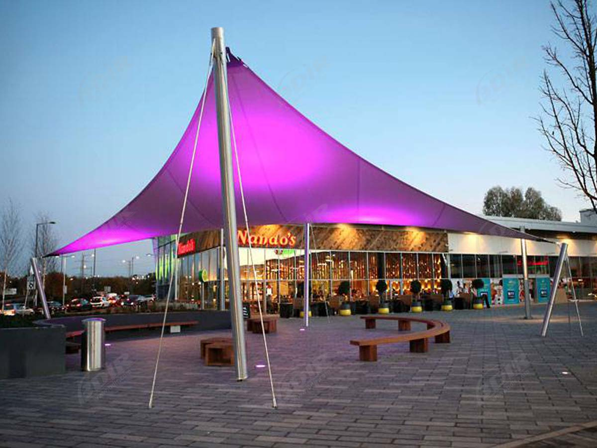 Landscape Tensile Structures - Permanent Fabric Shade Canopy Structures