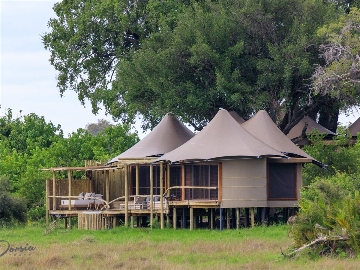 Little Vumbura Tent Camp Site with Luxury Fabric Tent Lodges