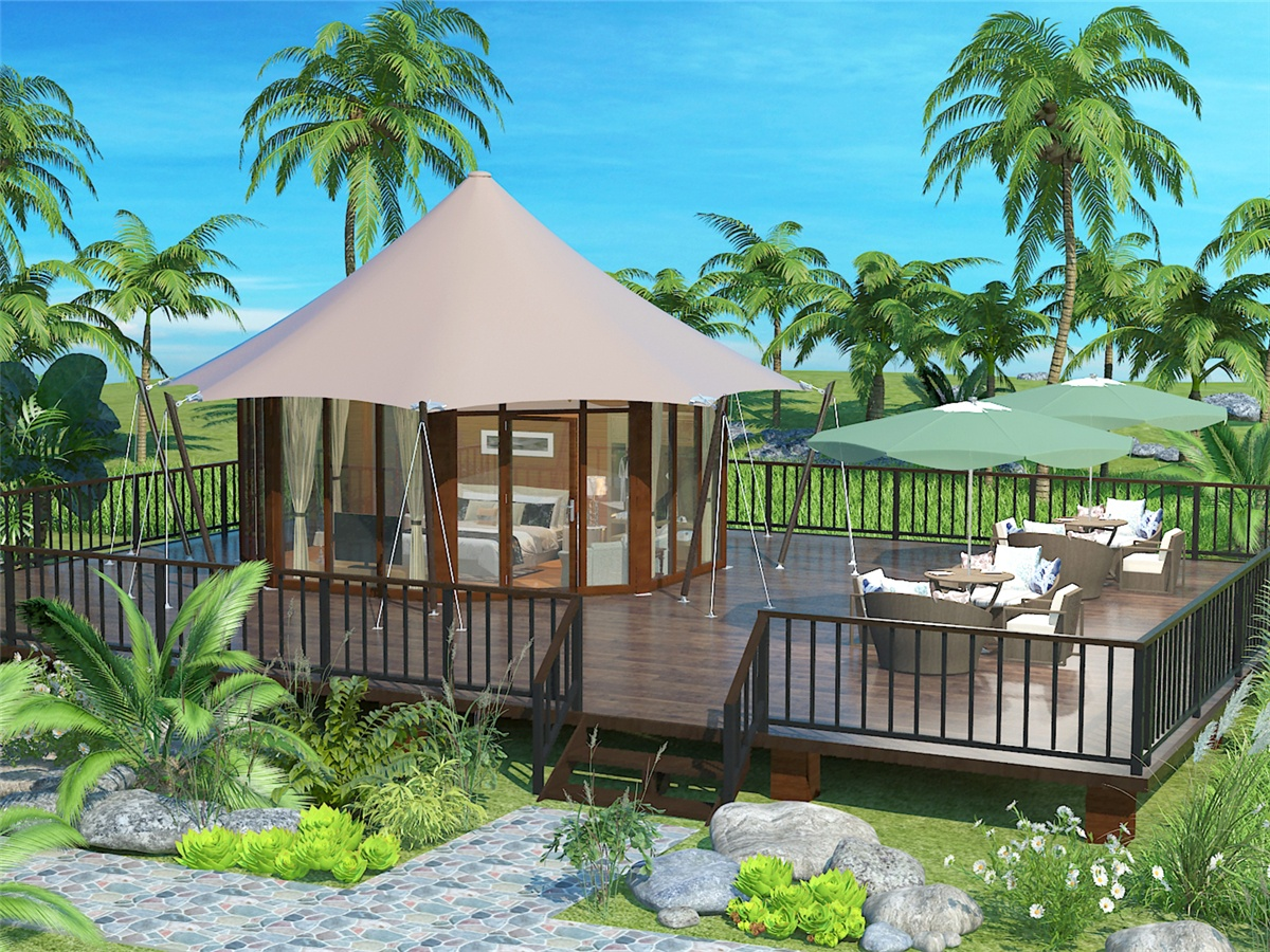 Luxury Family Eco Tent Structures For Conserve Turtle World Resort