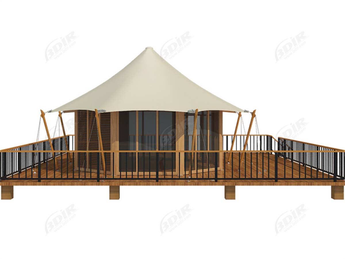 Luxury Family Eco Tent Structures For Conserve Turtle