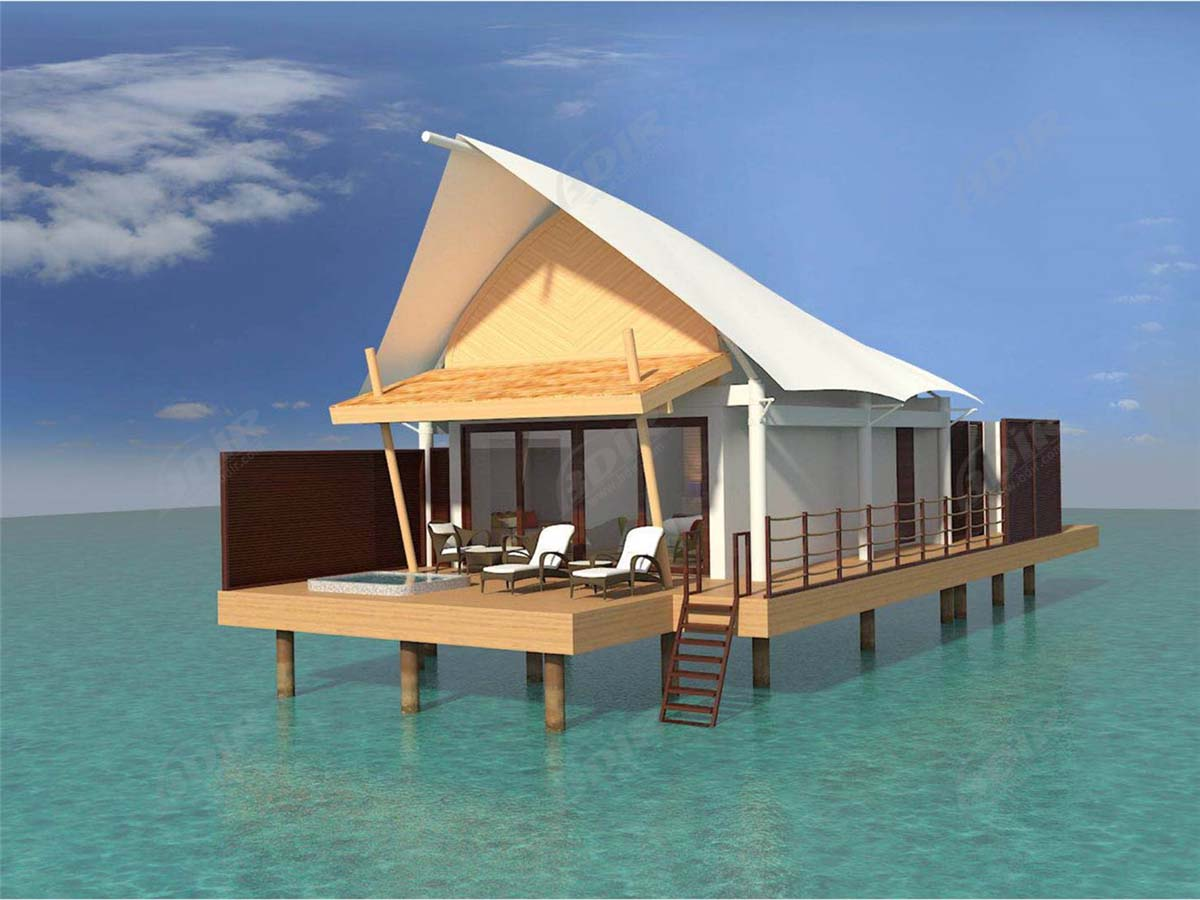 Luxury Island Tented Resort, Fabric Membrane Roof Structures Lodges - Maldives