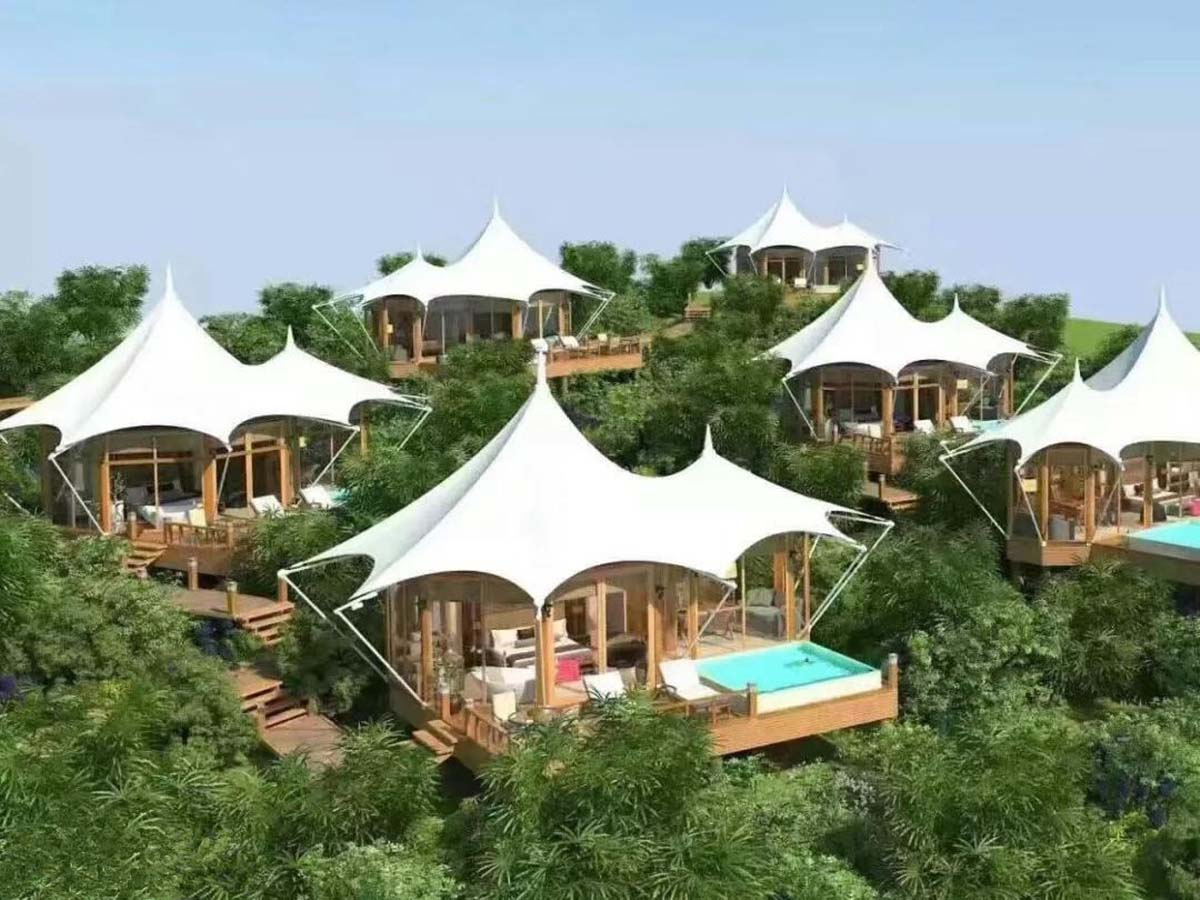 Luxury Sustainable Hospitality Rainforest Resort with Tent Pool Villas - Thailand