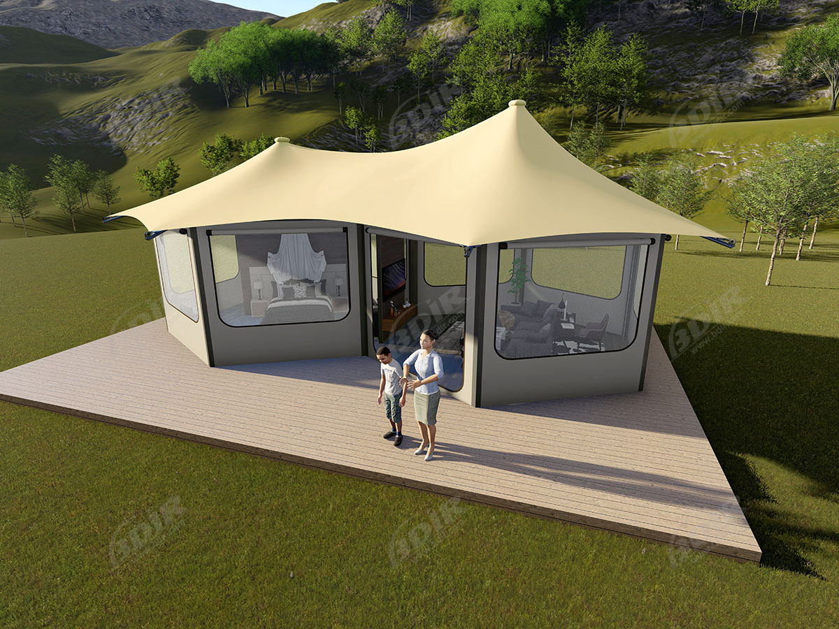 Moderne & Luxe Grote Canvas Yurt Tent & Glampinghutten
