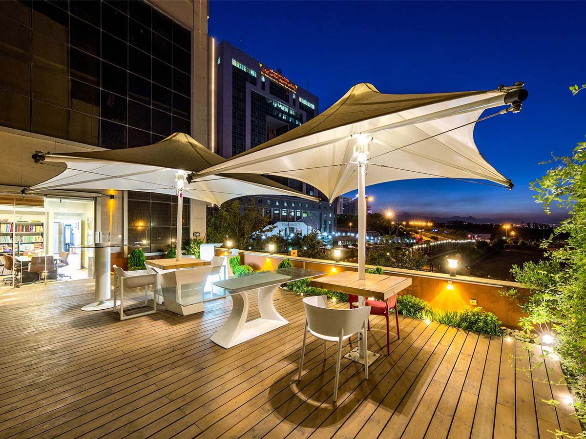 Outdoor Umbrella Tensile Structure - Shades, Sails, Canopies and Awnings