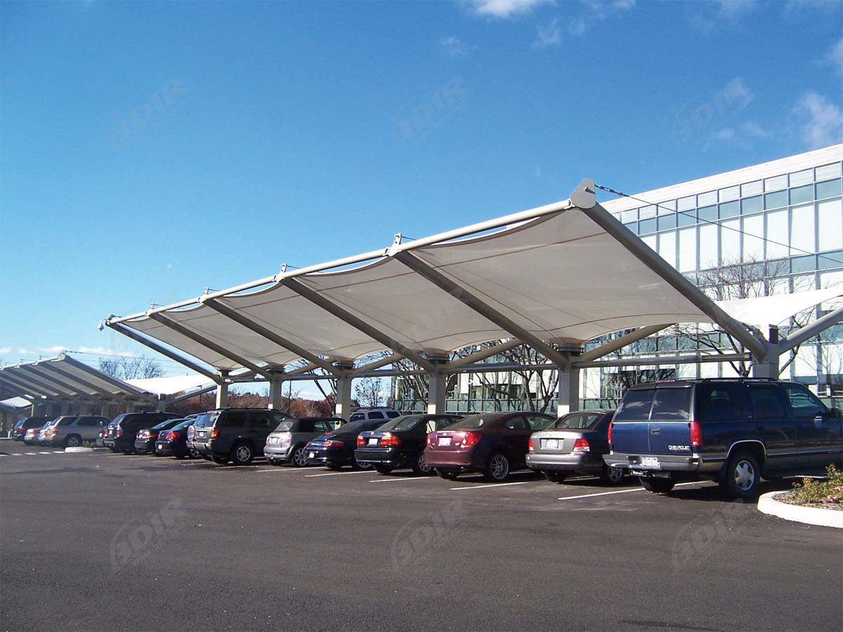 High Quality PTFE / ETFE Membrane Car Parking Shades - Customized Design