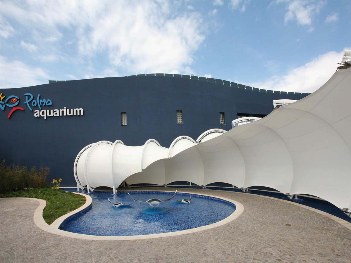 PVC PVDF PTFE Tensile Structures for Aquarium, Science Museum, Seaquarium