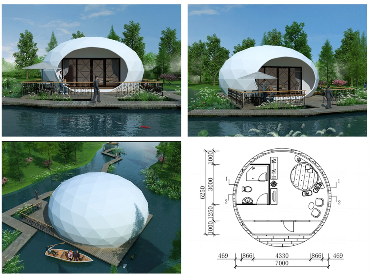 PVDF Fabric Membrane Structure Tent House For Luxury Jungle Camping