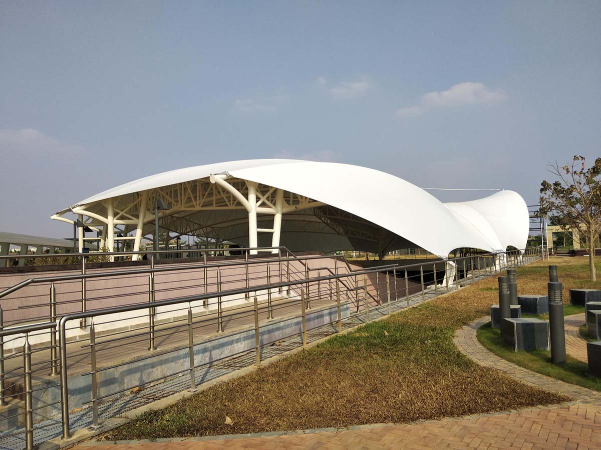 Parking Garage Exit and Entrance Canopy, Shelters, Roofs, Shade Structures