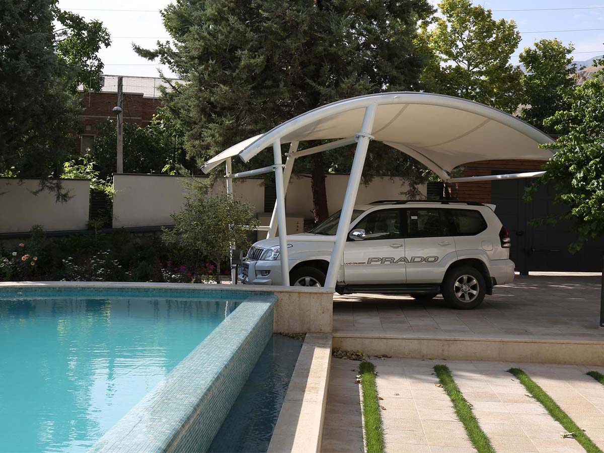 Private Car Parking Sheds - Parking Roof for Private House Villa Outdoor Garden